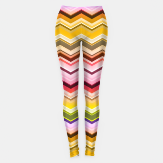 Zig zag waves print Leggings miniature