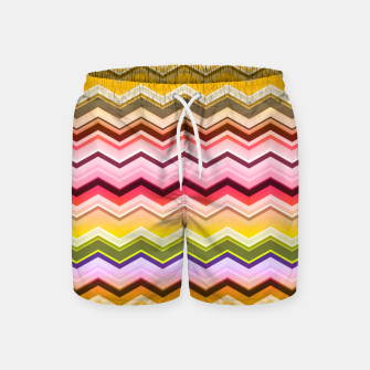 Zig zag waves print Swim Shorts miniature