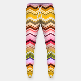 Zig zag waves print Sweatpants miniature