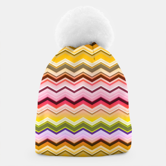 Zig zag waves print Beanie miniature