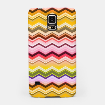 Zig zag waves print Samsung Case miniature