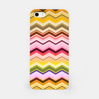 Zig zag waves print iPhone Case miniature