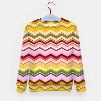 Zig zag waves print Kid's sweater miniature