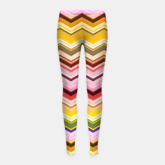 Zig zag waves print Girl's leggings miniature