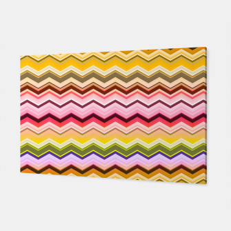 Zig zag waves print Canvas miniature