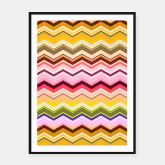 Zig zag waves print Framed poster miniature