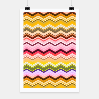 Zig zag waves print Poster miniature
