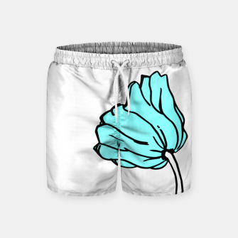 Thumbnail image of Pink and blue sketched flowers, nature print, poppy Swim Shorts, Live Heroes