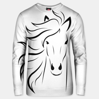 Thumbnail image of Horse head illustration Unisex sweater, Live Heroes