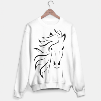Thumbnail image of Horse head illustration Sweater regular, Live Heroes