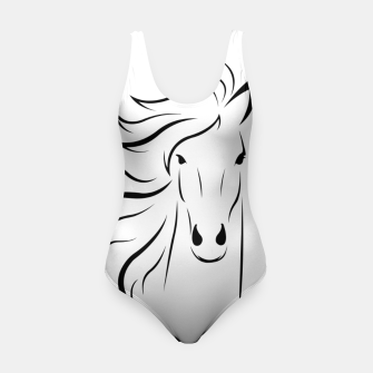 Thumbnail image of Horse head illustration Swimsuit, Live Heroes