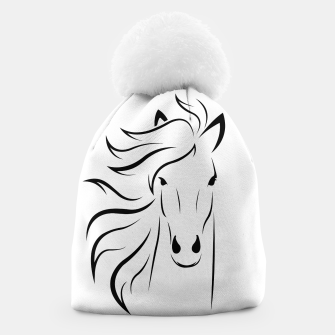 Thumbnail image of Horse head illustration Beanie, Live Heroes