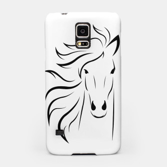 Thumbnail image of Horse head illustration Samsung Case, Live Heroes