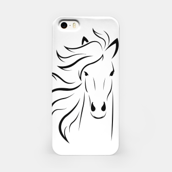 Thumbnail image of Horse head illustration iPhone Case, Live Heroes