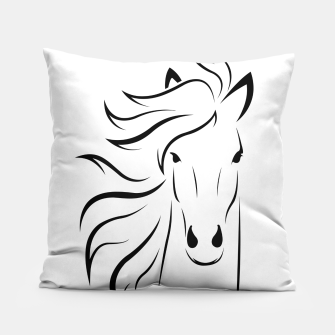 Thumbnail image of Horse head illustration Pillow, Live Heroes