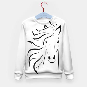 Thumbnail image of Horse head illustration Kid's sweater, Live Heroes