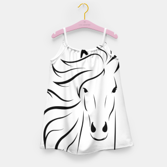 Thumbnail image of Horse head illustration Girl's dress, Live Heroes