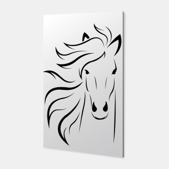 Thumbnail image of Horse head illustration Canvas, Live Heroes