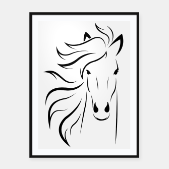 Thumbnail image of Horse head illustration Framed poster, Live Heroes