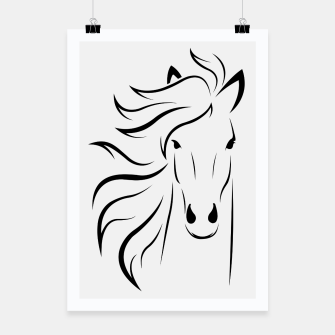 Thumbnail image of Horse head illustration Poster, Live Heroes