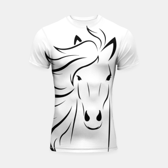 Thumbnail image of Horse head illustration Shortsleeve rashguard, Live Heroes