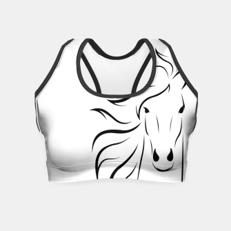Thumbnail image of Horse head illustration Crop Top, Live Heroes