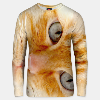 Cat with the blue eyes, cat face print  Unisex sweater miniature