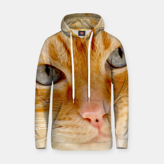 Cat with the blue eyes, cat face print  Hoodie miniature