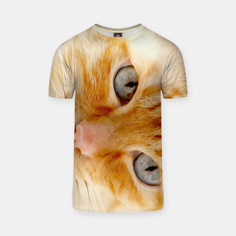 Cat with the blue eyes, cat face print  T-shirt miniature