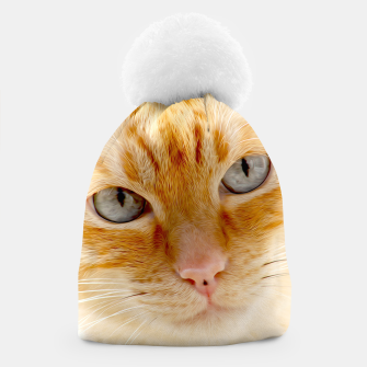 Cat with the blue eyes, cat face print  Beanie miniature
