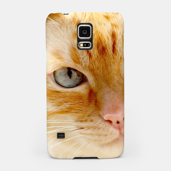 Cat with the blue eyes, cat face print  Samsung Case miniature