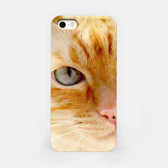 Cat with the blue eyes, cat face print  iPhone Case miniature