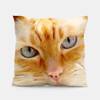 Cat with the blue eyes, cat face print  Pillow miniature