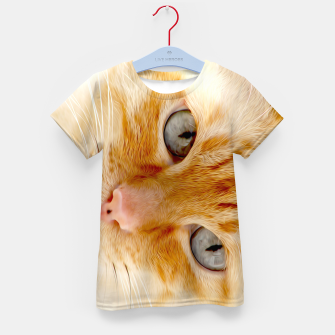 Cat with the blue eyes, cat face print  Kid's t-shirt miniature