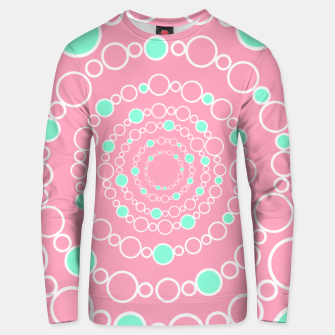 Tunnel of bubbles, pink and blue Unisex sweater miniature