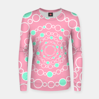 Tunnel of bubbles, pink and blue Women sweater miniature