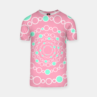 Tunnel of bubbles, pink and blue T-shirt miniature