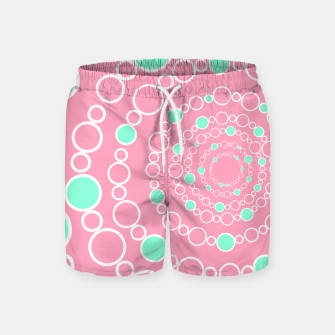 Tunnel of bubbles, pink and blue Swim Shorts miniature