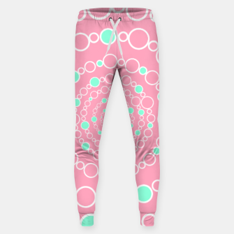 Tunnel of bubbles, pink and blue Sweatpants miniature