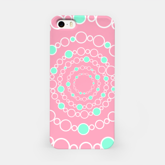 Tunnel of bubbles, pink and blue iPhone Case miniature