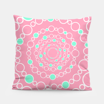 Tunnel of bubbles, pink and blue Pillow miniature