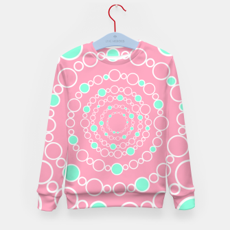 Tunnel of bubbles, pink and blue Kid's sweater miniature