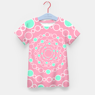 Tunnel of bubbles, pink and blue Kid's t-shirt miniature