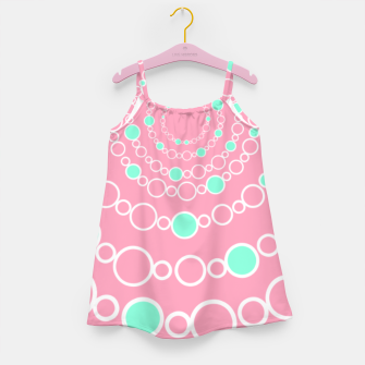 Tunnel of bubbles, pink and blue Girl's dress miniature
