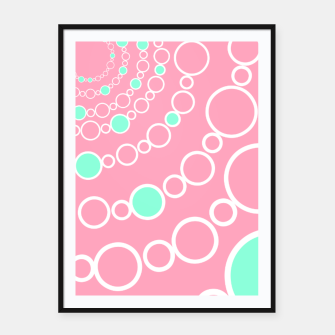 Tunnel of bubbles, pink and blue Framed poster miniature