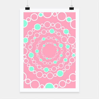 Tunnel of bubbles, pink and blue Poster miniature