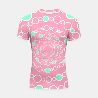Tunnel of bubbles, pink and blue Shortsleeve rashguard miniature