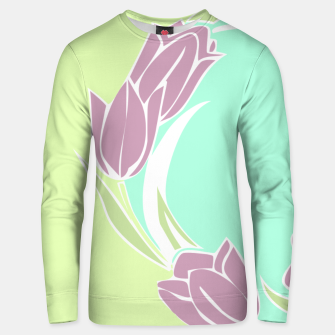 Thumbnail image of Tulips, botanical spring print Unisex sweater, Live Heroes