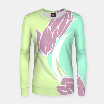 Thumbnail image of Tulips, botanical spring print Women sweater, Live Heroes