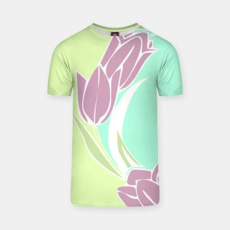 Thumbnail image of Tulips, botanical spring print T-shirt, Live Heroes